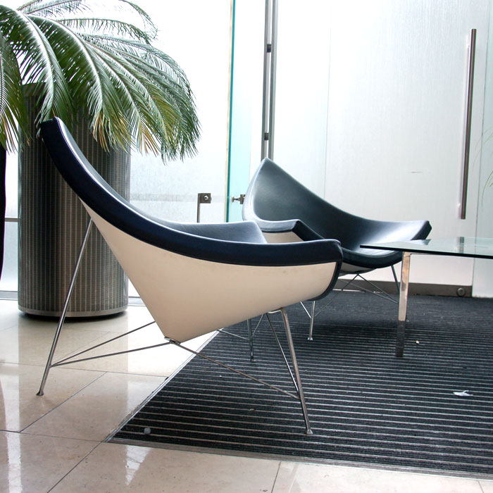 Black Coconut Chair By George Nelson Reception Chair